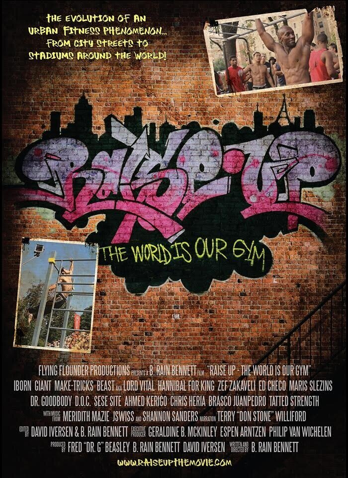 "Tracks from emcee JSWISS are featured in RAISE UP: The World Is Our Gym. This fascinating and acclaimed documentary, winner of the 2016 Hip Hop Festival in NYC, ""Best of festival,"" tells the story of the calisthenics fitness craze born in the streets Harlem and becoming a world wide phenomenon. Now airing on Red Bull TV"