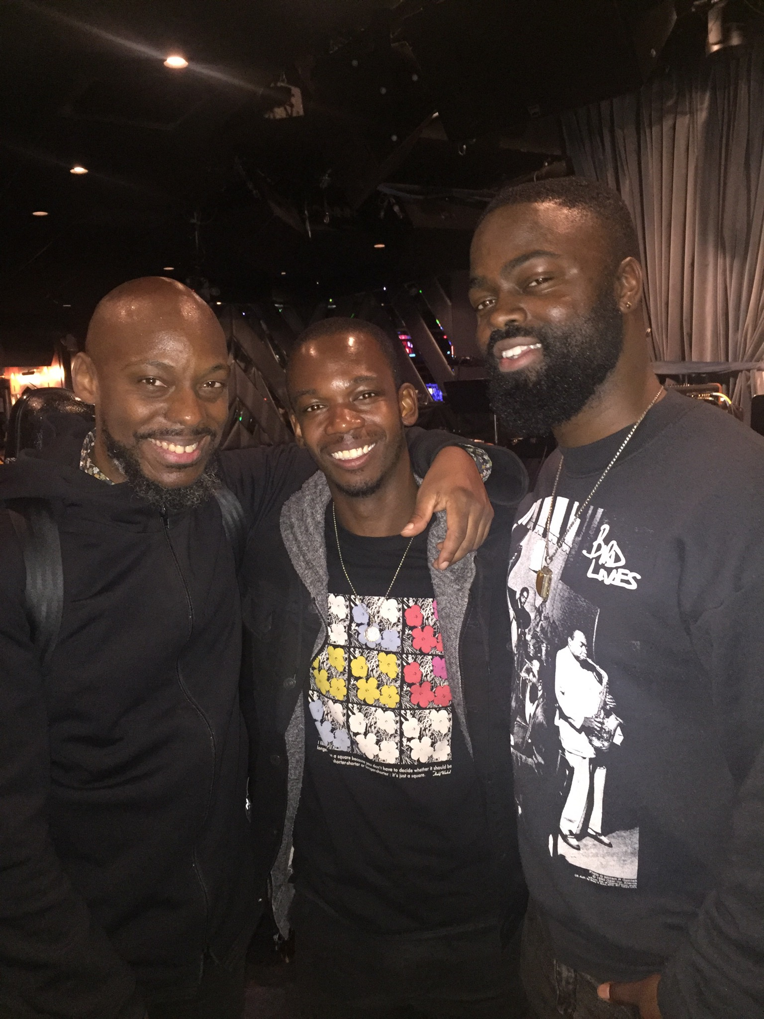 JSWISS was a guest performer with acclaimed saxophonist Marcus Strickland (pictured left) for his show at the Bluenote NYC with an outstanding band including Big Yuki(Keyboards), Kyle Miles (Bass) and (pictured right) Marcus Gilmore (drums)
