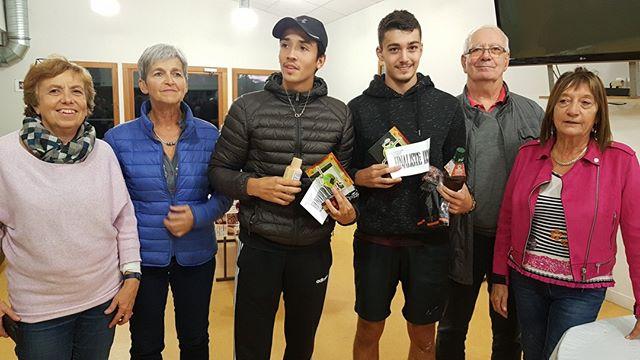 C'est sur deux belles finales que s'est clôturé le tournoi indoor 2019 du Tennis Coublevie Voiron.  Elsa Pellegrinneli du Grenoble Tennis (classée 0), l'a emporté face à Laura Poncet du TC Echirolles (classée 0) sur le score de 6/4 6/4.  Chez les hommes, David Rieme du TC Echirolles (classé 0) a remporté la finale face à Yanis Ghazouani-Durand du TC Bourg de Pèage (classé 0) sur le score de 6/3 6/1.  A noter que notre dernier représentant, Léo Vuillaume (classé 1/6), ne s'est incliné qu'en 1/2 finale face au vainqueur du tournoi en 3 sets!! Bravo à tous les participants du tournoi pour leur bonne humeur et leur fair-play, et un grand merci aux juges arbitre, Joëlle Regal, Odile De Croute, Gisèle Barral-Baron, André Peyre.  Merci à tous les bénévoles venus preter main forte, pour leur aide et leur implication.  #tenniscoublevievoiron #tennis #voiron #match #tour #france #sport #motivation #men #women #tennisplayer