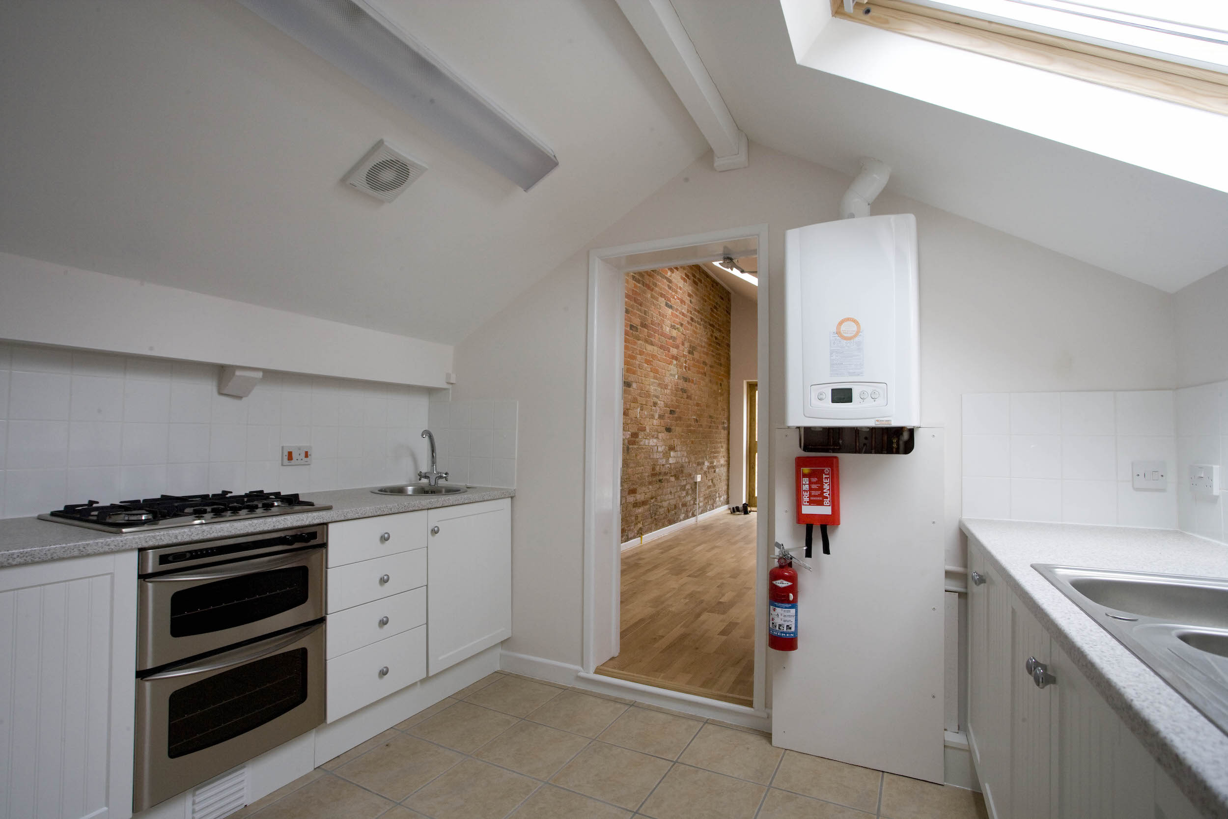 Modern kitchen at Efford Park