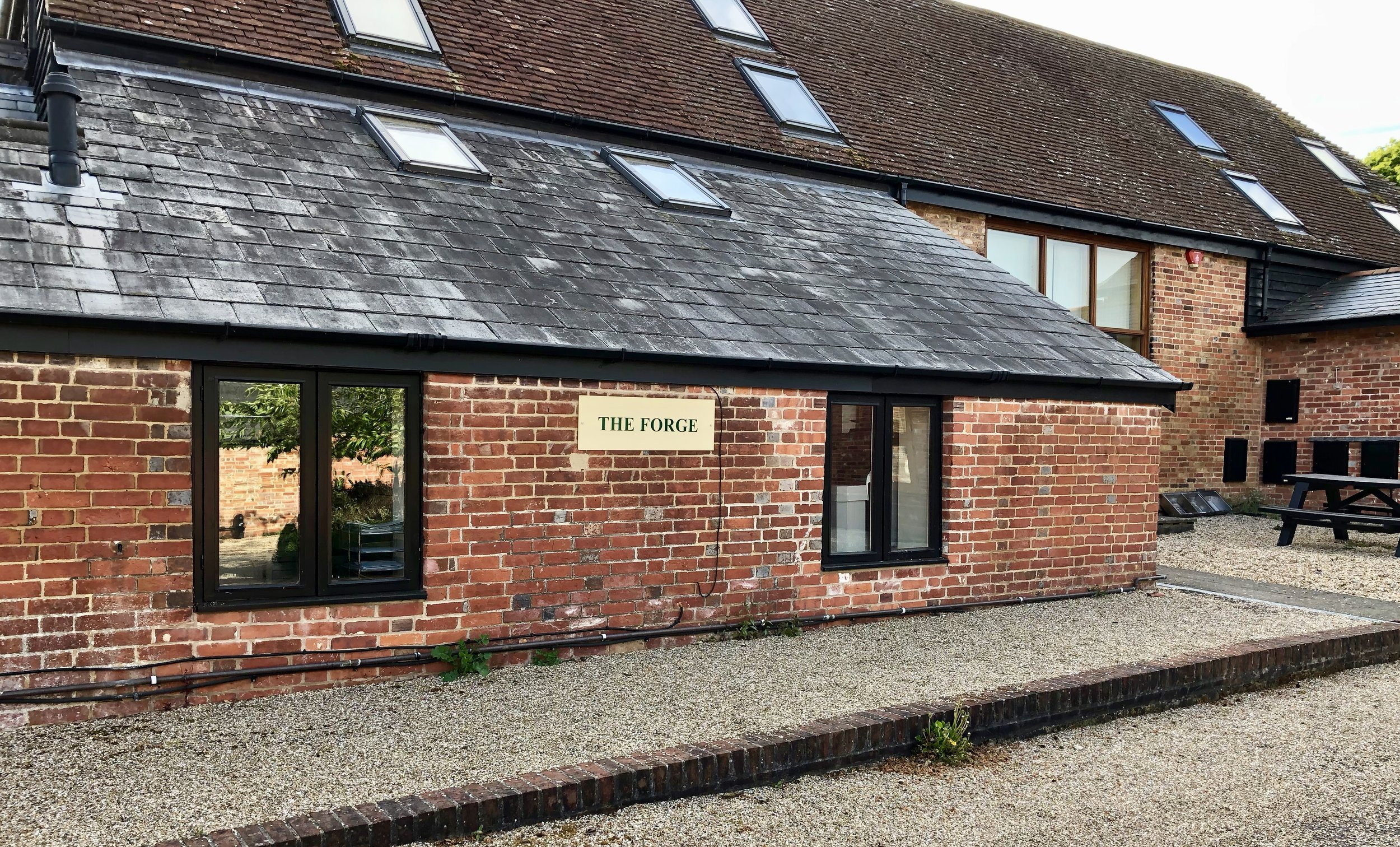 The Forge, office front at Efford Park