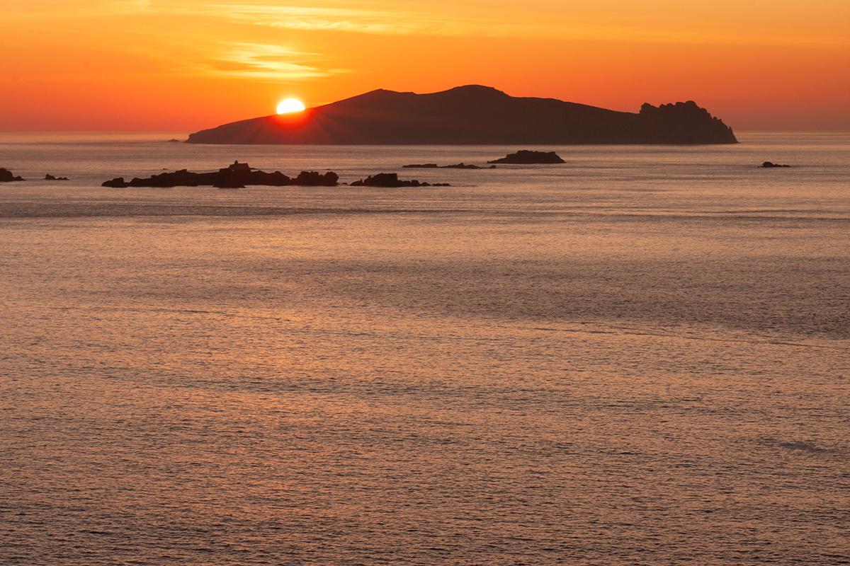 Sun setting over Inis Tuaisceart