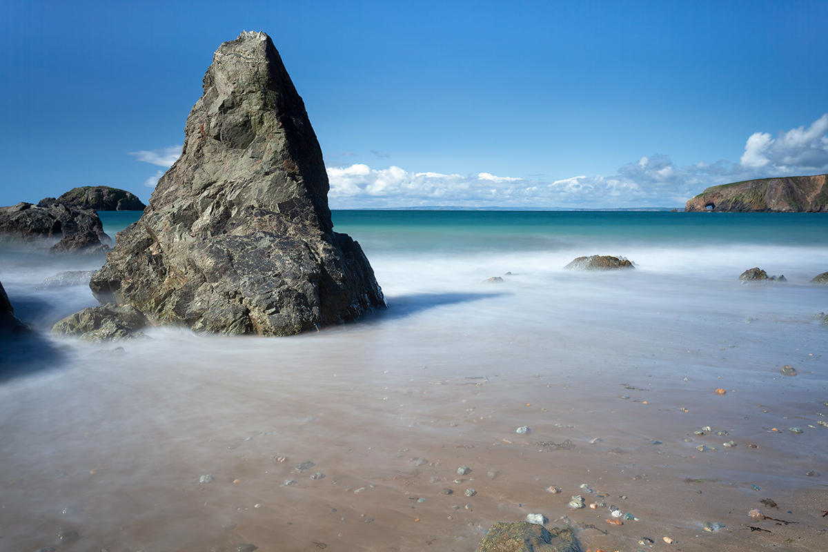 Kilfarassy beach on the Copper coast in Waterford