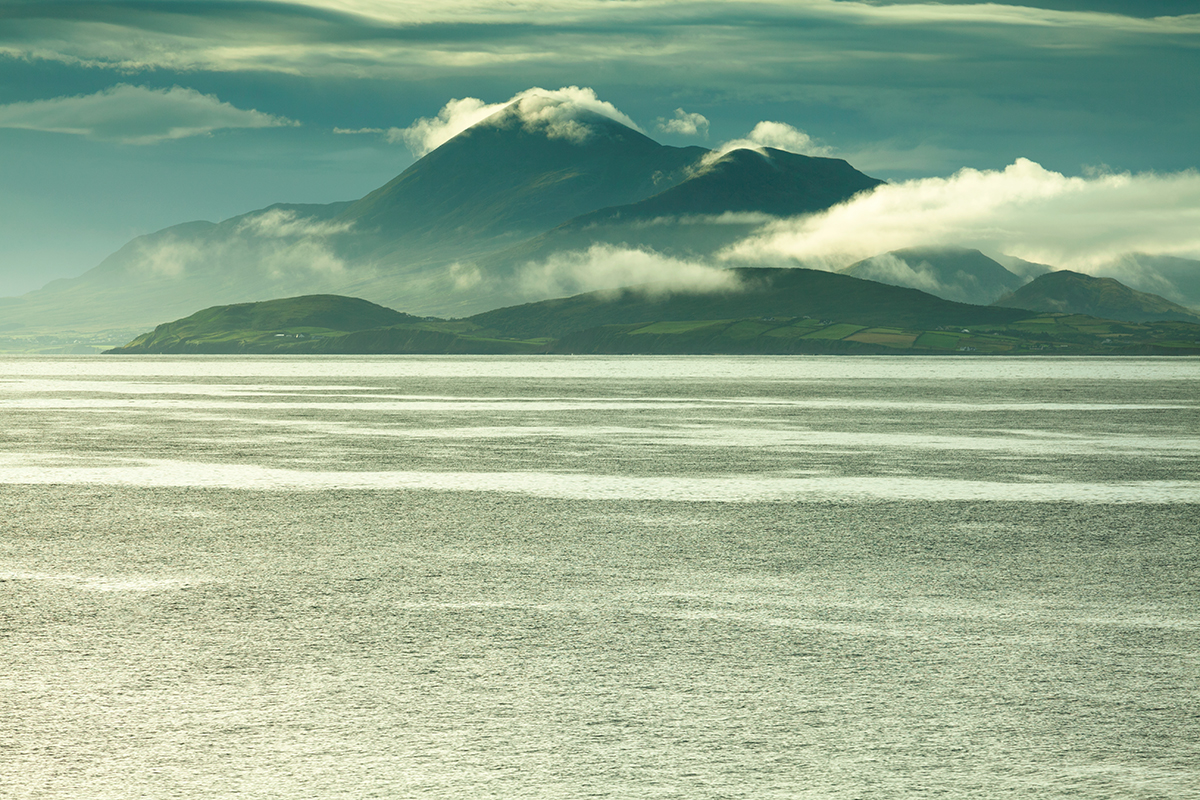 View of Croagh Patrick from Clare island