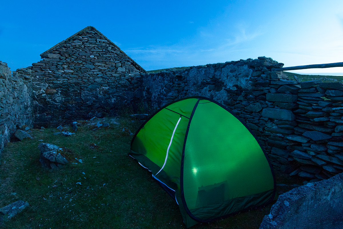 My home for the night on Inishkea South