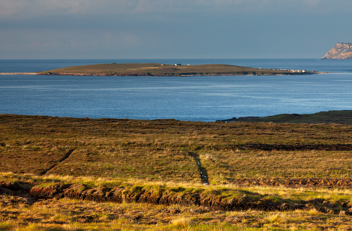 View of Inishboffin island from the mainland