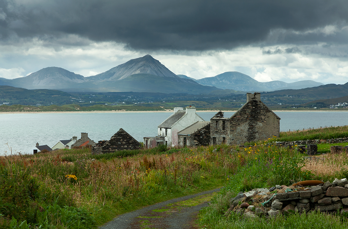 View of Mount Errigal from Inishboffin island