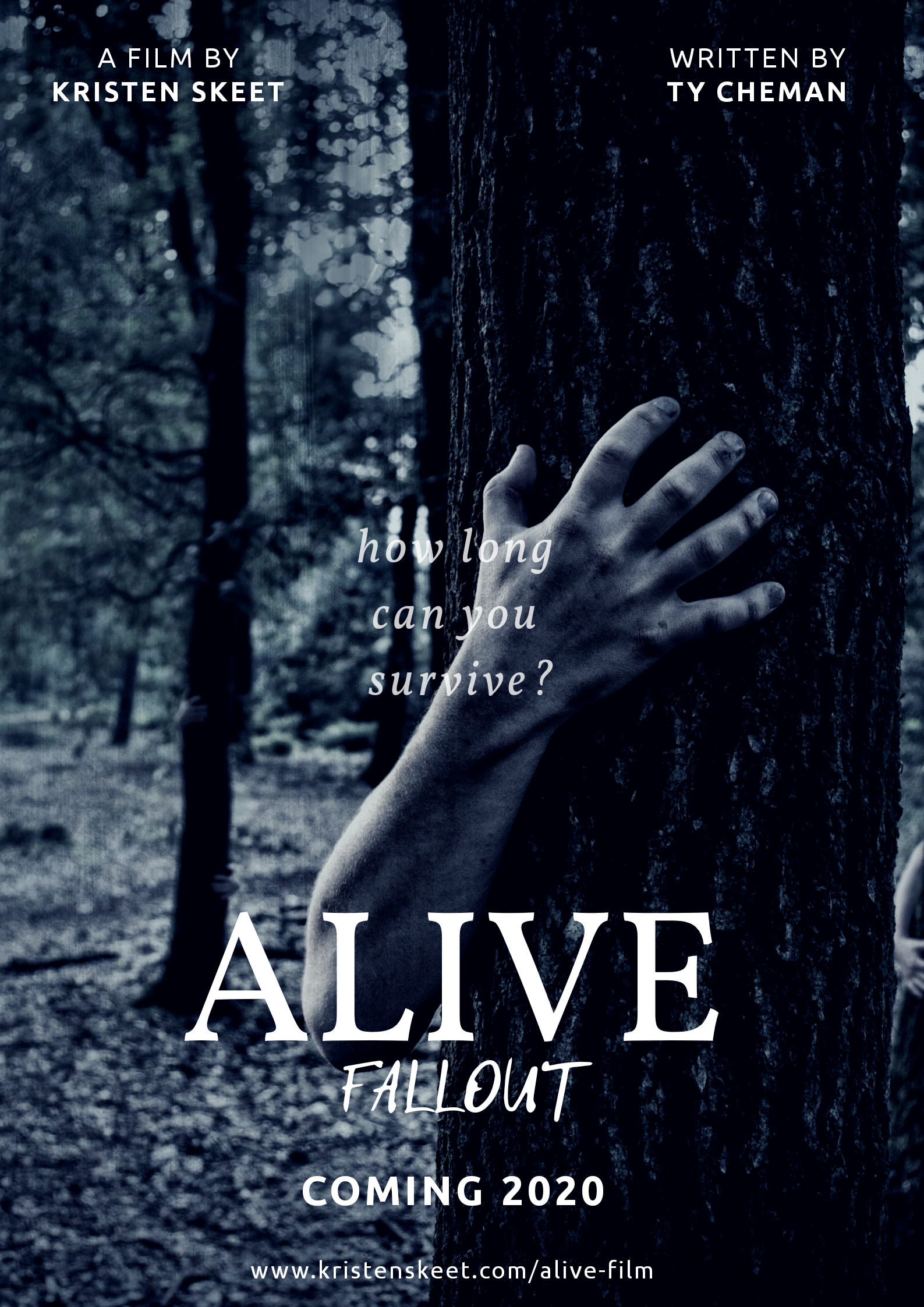 Alive: Fallout - A film by Kristen Skeet.Written by Ty Cheman.In a post-apocalyptic world, a small group of survivors attempts to make it to safety.