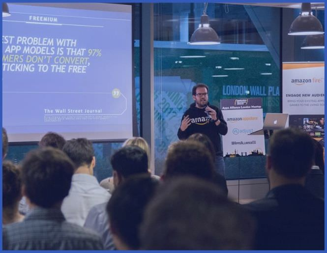 Developer Meetups - We've hosted numerous meetups welcoming up to 120 guests with partners ranging from Visa, Jaguar LandRover, to Amazon Appstore and more.