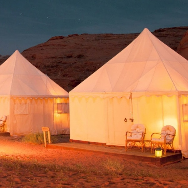 DISCOVERY BEDU WADI RUM - Experience an eco-friendly camp with on-hand chef preparing gourmet meals for you and other guests to enjoy around the campfire, and under the stars. Known as the Valley of the Moon, be amazed by Jordan's highest peaks, largest valleys, and prehistoric rock carvings – it's a magnificent, quiet wonder.