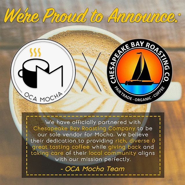 We're excited to serve rich, high quality coffee while taking care of our local communities in as many ways possible! ☕️ ☕️ @cbrccoffee Y'all ready! 🤝 ☕️ #ocamocha #umbc #coffee #coffeegram #arbutus #chesapeakebay #cbrccoffee #cafe #art #specialtycoffee