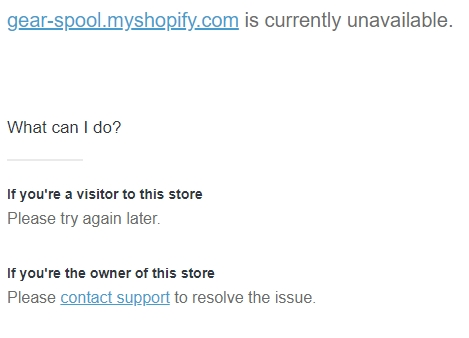 Shopify Blocked our website
