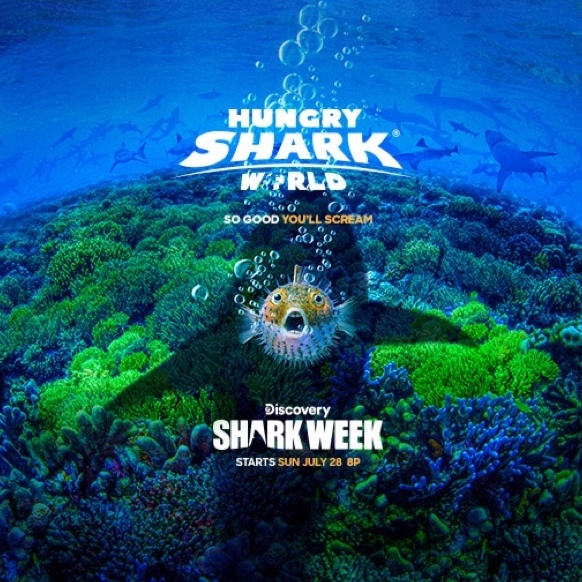 HUNGRY SHARK EVOLUTION - Take control of a very Hungry Shark and go on a frantic ocean rampage, surviving as long as possible by eating everything and everyone in your way! Explore a beautiful underwater world and evolve iconic sharks like the Great White and Megalodon!