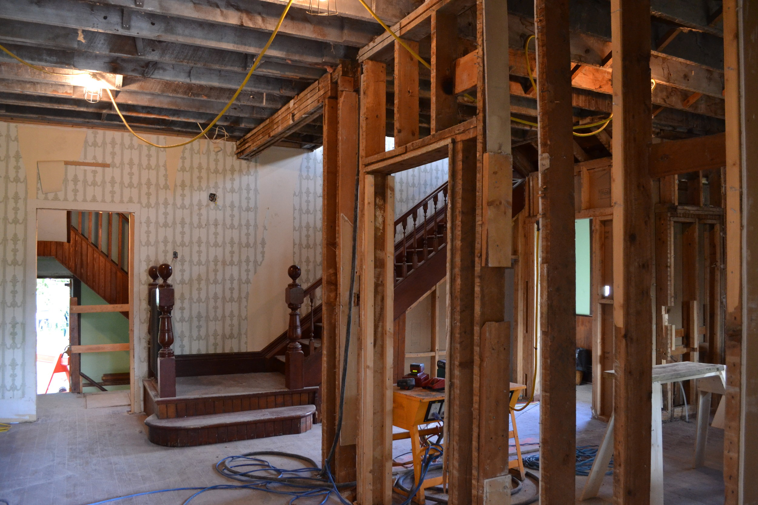 Interior of Deane House (during restoration)