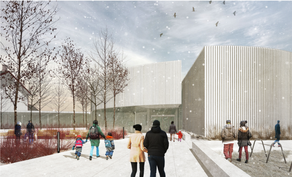 New Museum Architectural Rendering: Entry Plaza – Nyhoff Architecture