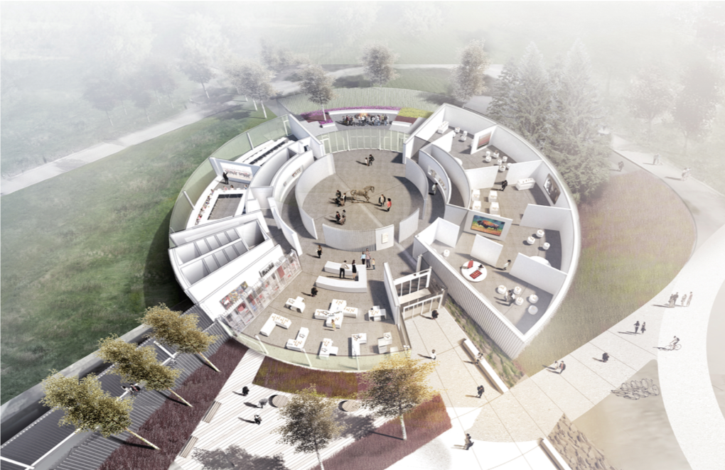New Museum Architectural Rendering: Bird's Eye View – Nyhoff Architecture
