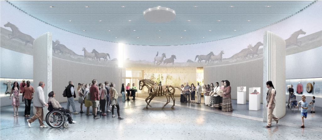 New Museum Architectural Rendering: Evolving Story Gallery – Nyhoff Architecture
