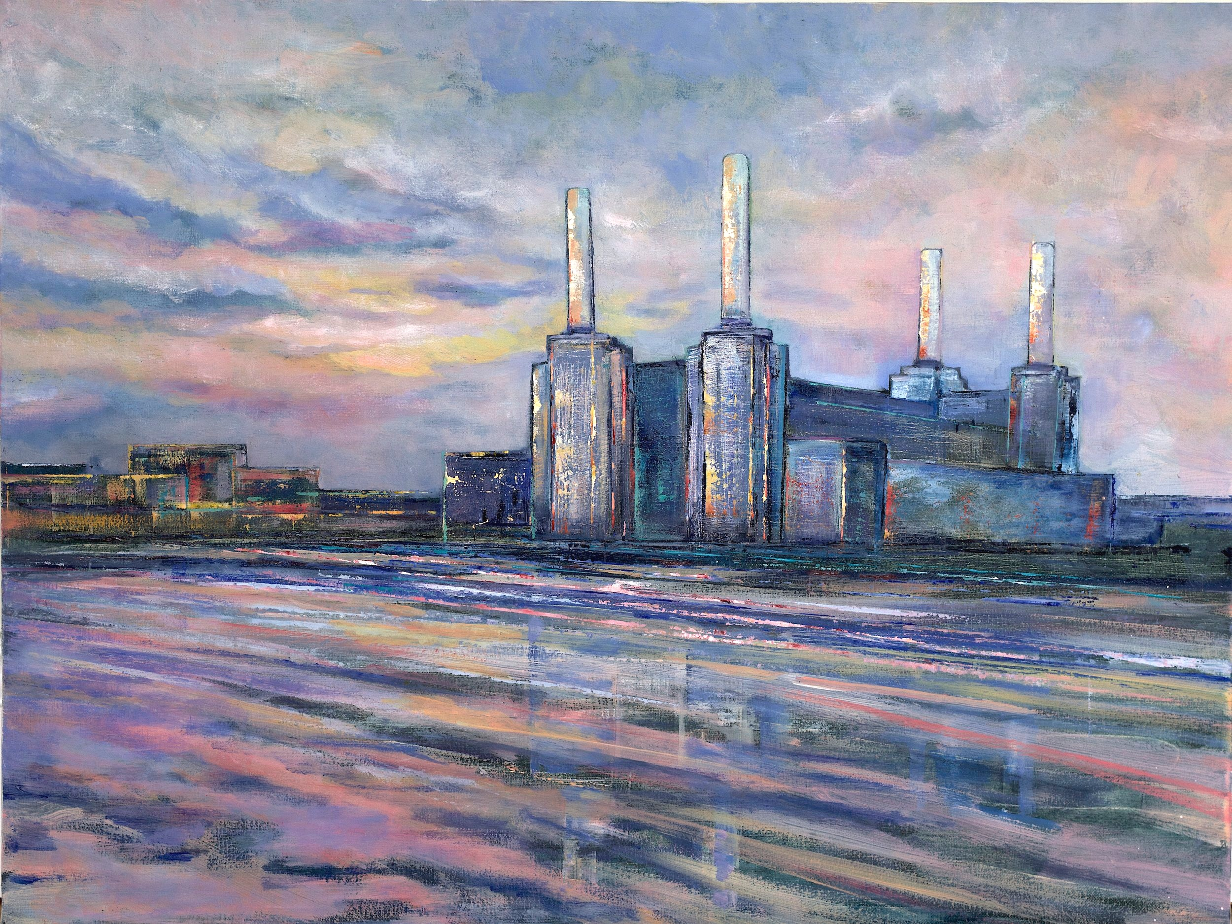 Battersea Power Station #2 - 80cm x 60cm, Oil on Box Canvas£850 (Unframed)