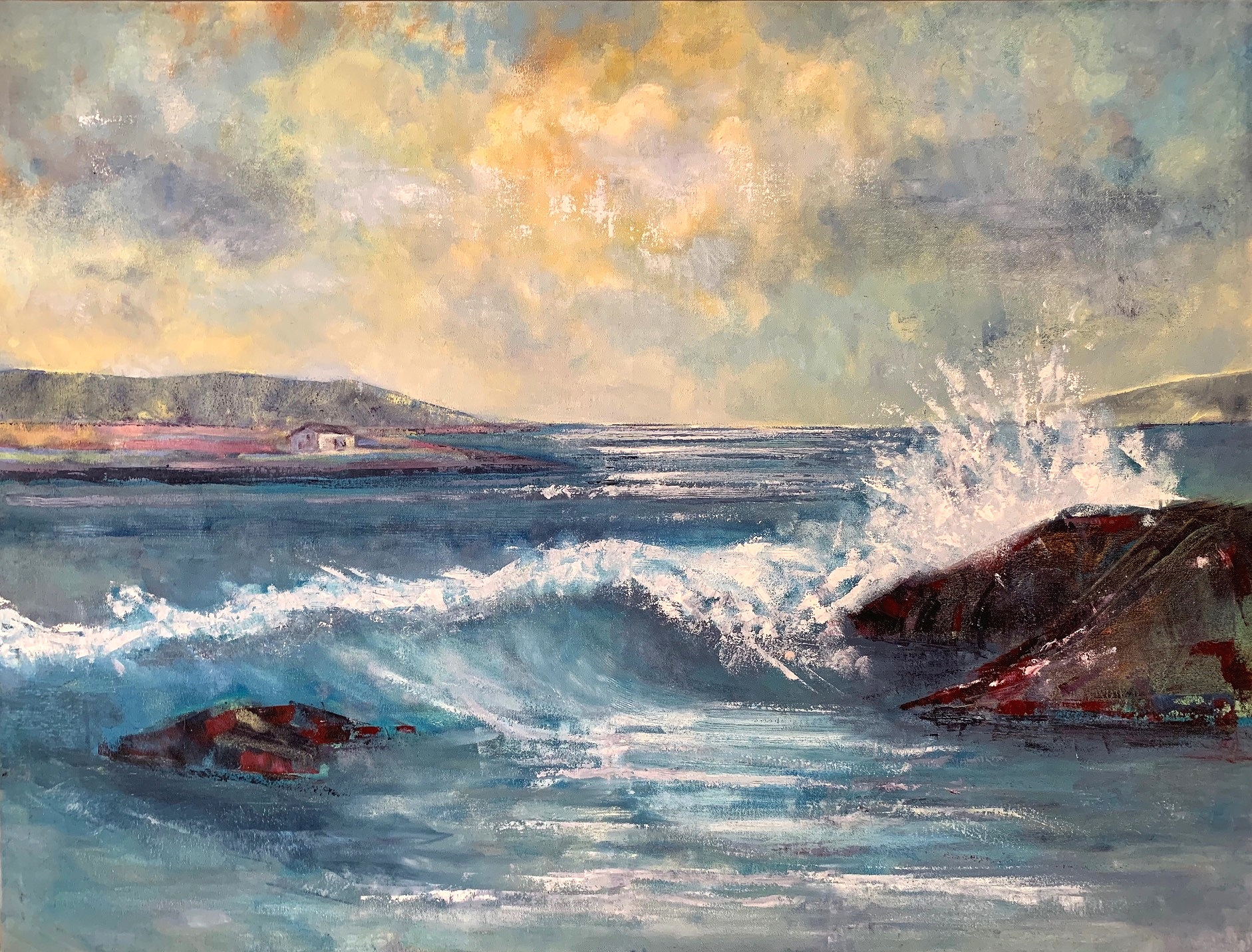 COrnish Coast - 100cm x 80cmSOLD