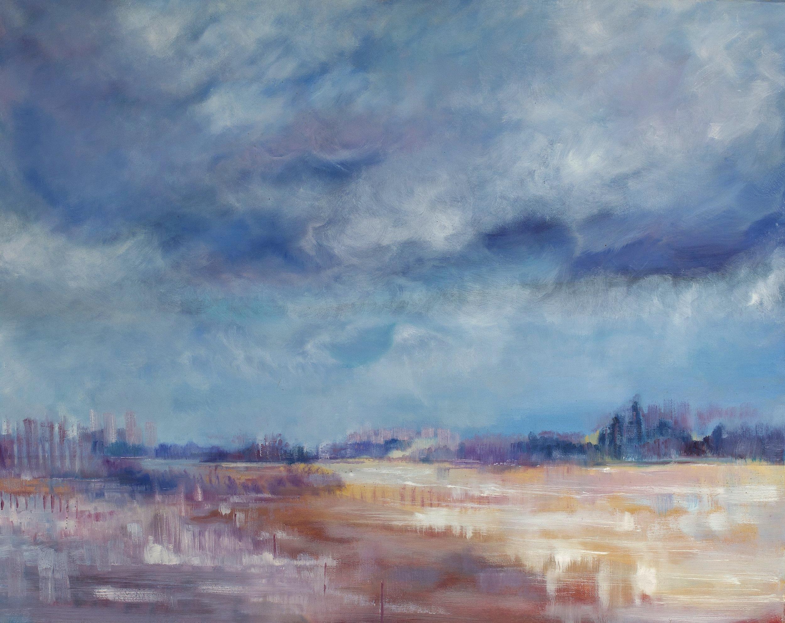 View toward the city - 100cm x 80cm, Oil on Canvas114cm x 94cm, Frame Size£1,800 (Framed)