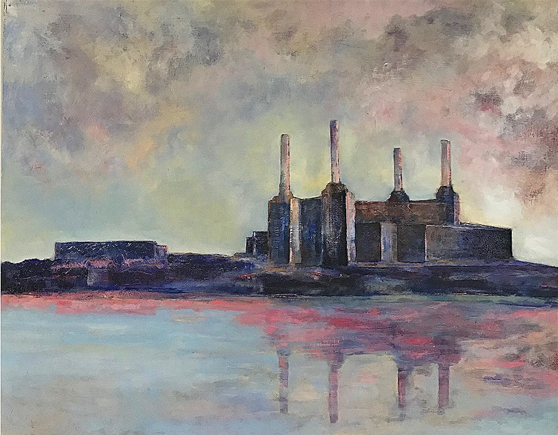 Battersea Power Station #3 - 100cm x 80cm, Oil on canvasSOLD