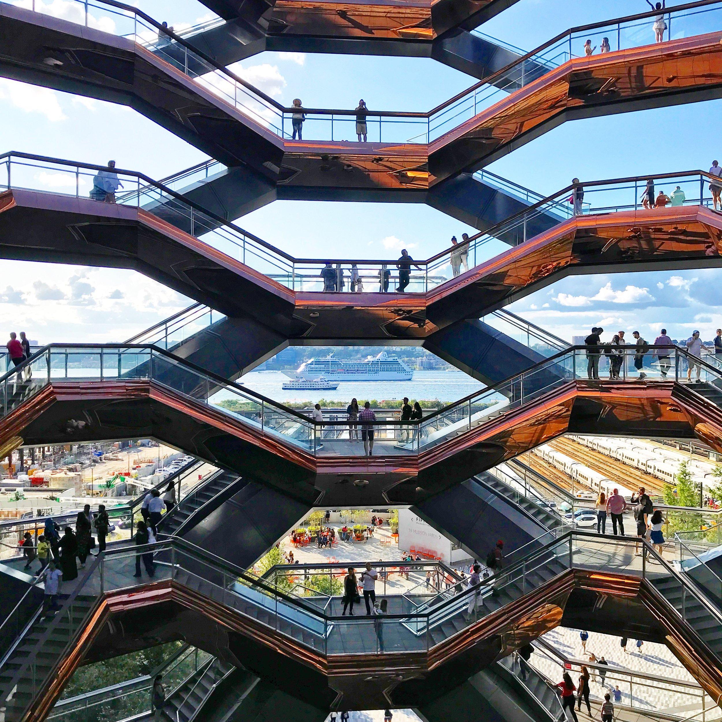 The Vessel, Hudson Yards, New York City.
