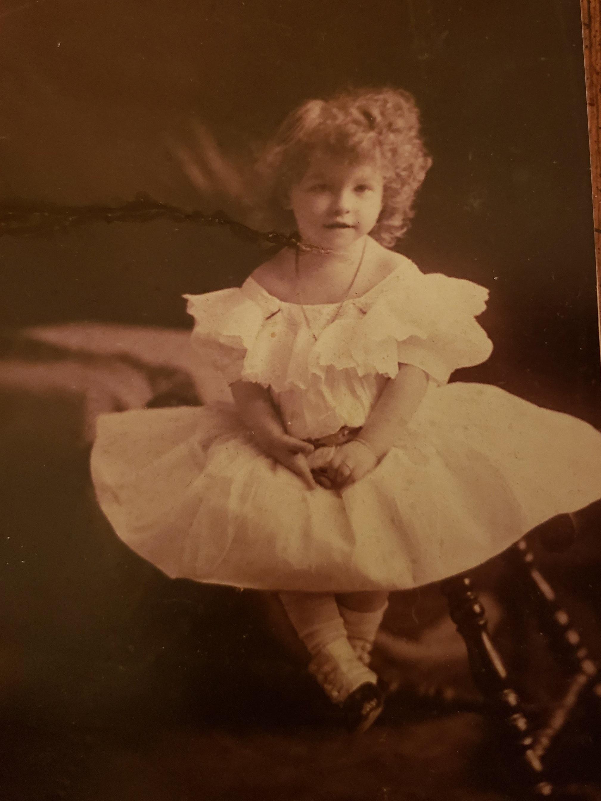 My maternal grandmother, Marion. Her hair! That dress! The little high-button boots!