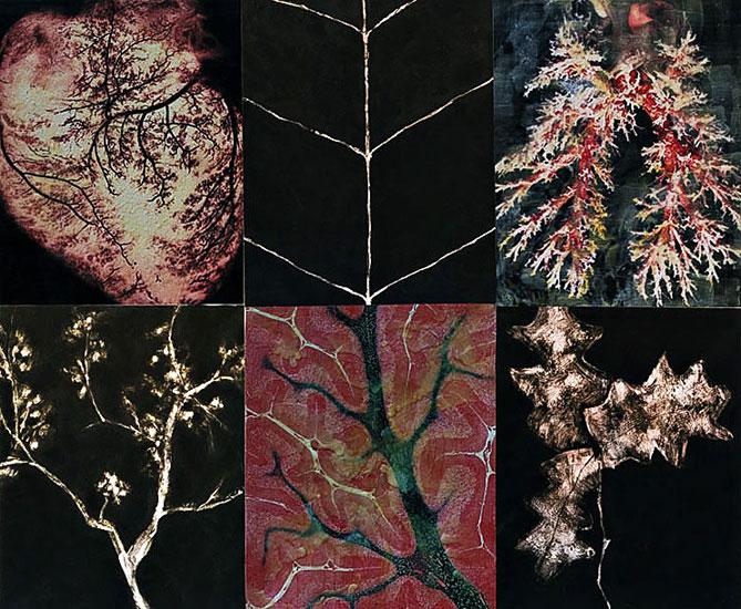 Naturaleza Interior, Naturaleza Exterior     Digital print & mixed media on canvas. 156 x 190 cm.