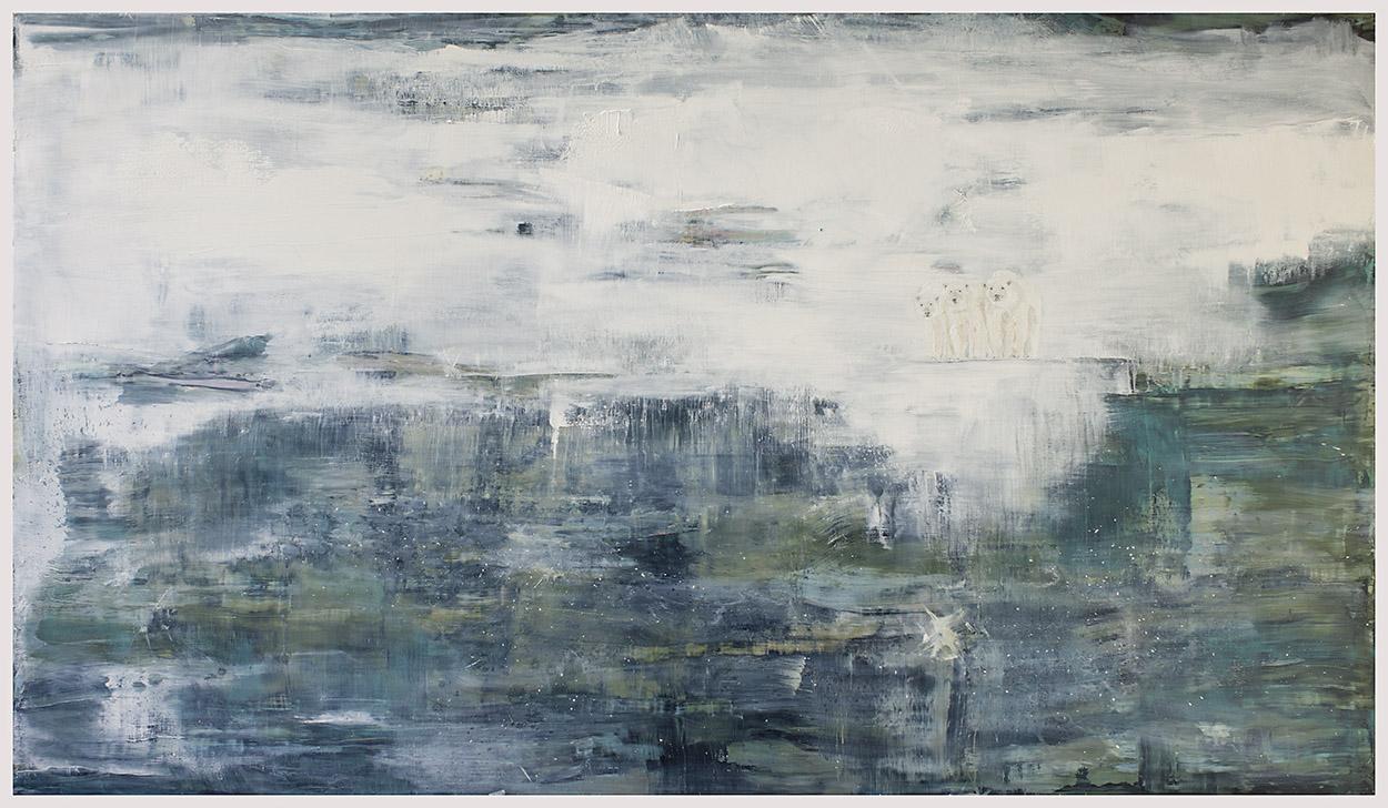 Ursus Maritimus   Oil, acrylic paint on canvas. 230 x 132 cm.
