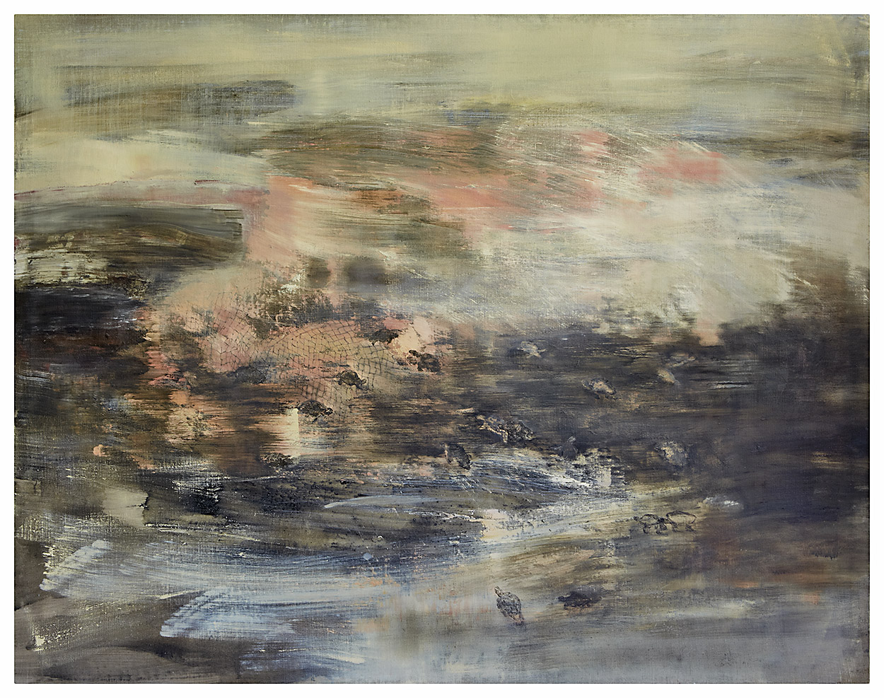 Millenium spawning at birthplace   Mixed media on canvas. 170 x 130 cm.
