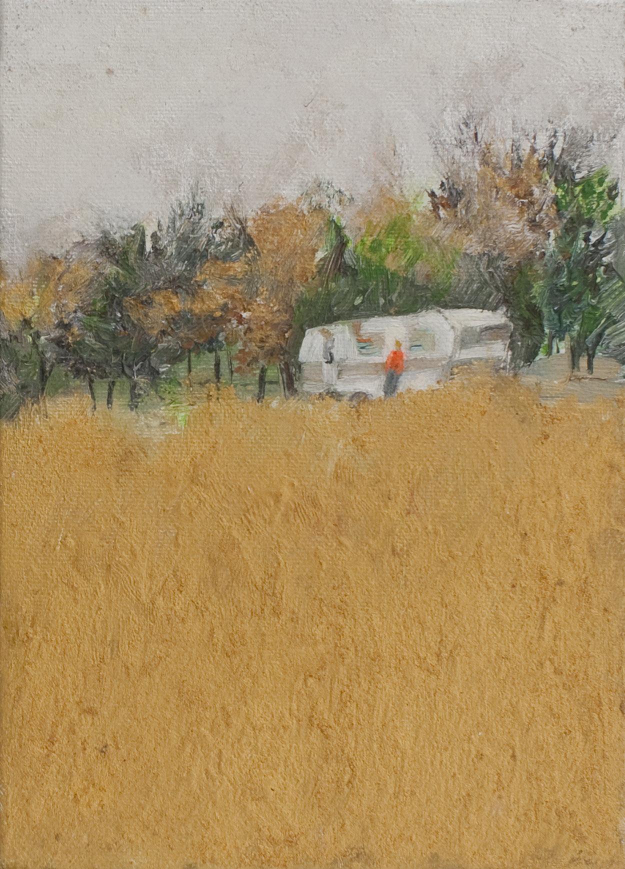Berlín 2005   Oil paint, fluorescent and pigment on canvas. 16 x 22 cm.