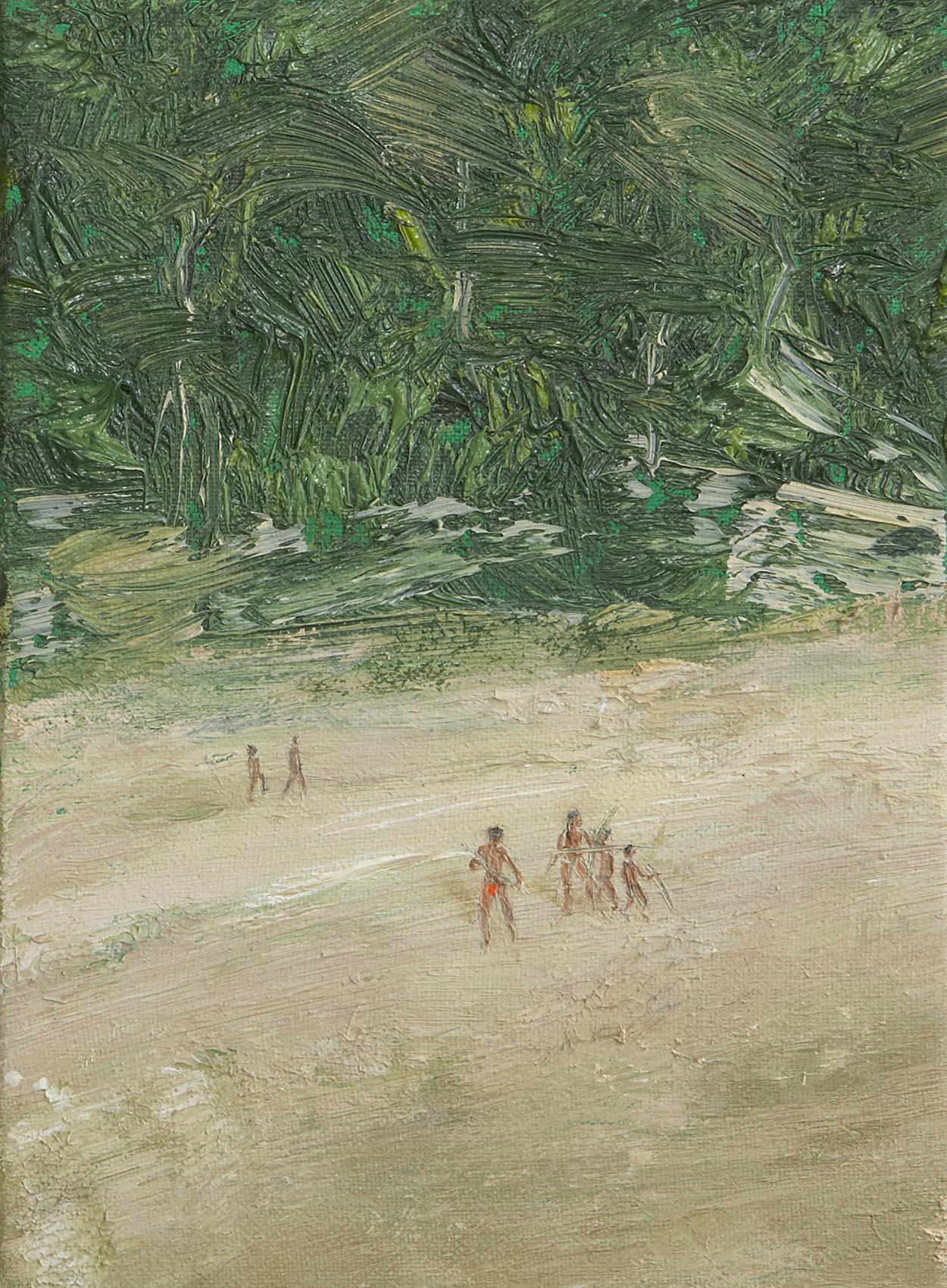 Perú 2010   Oil paint, fluorescent and pigment on canvas. 16 x 22 cm.