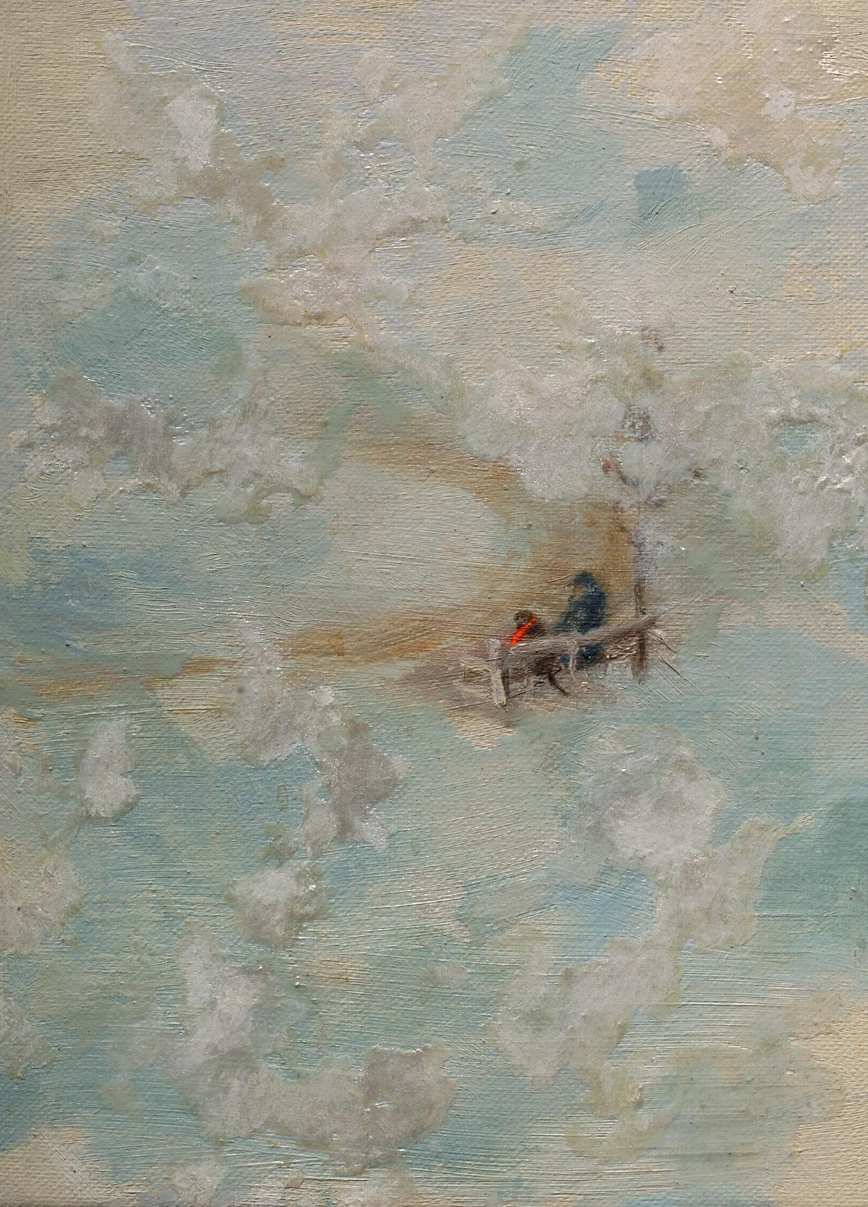 Ámsterdam 2004   Oil paint, fluorescent and pigment on canvas. 16 x 22 cm.