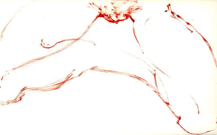 Tan(t)ricamente   Oil paint on paper. 36 x 25 cm.