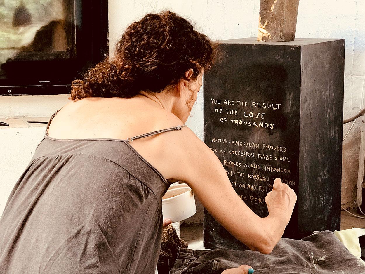 Writing on the base