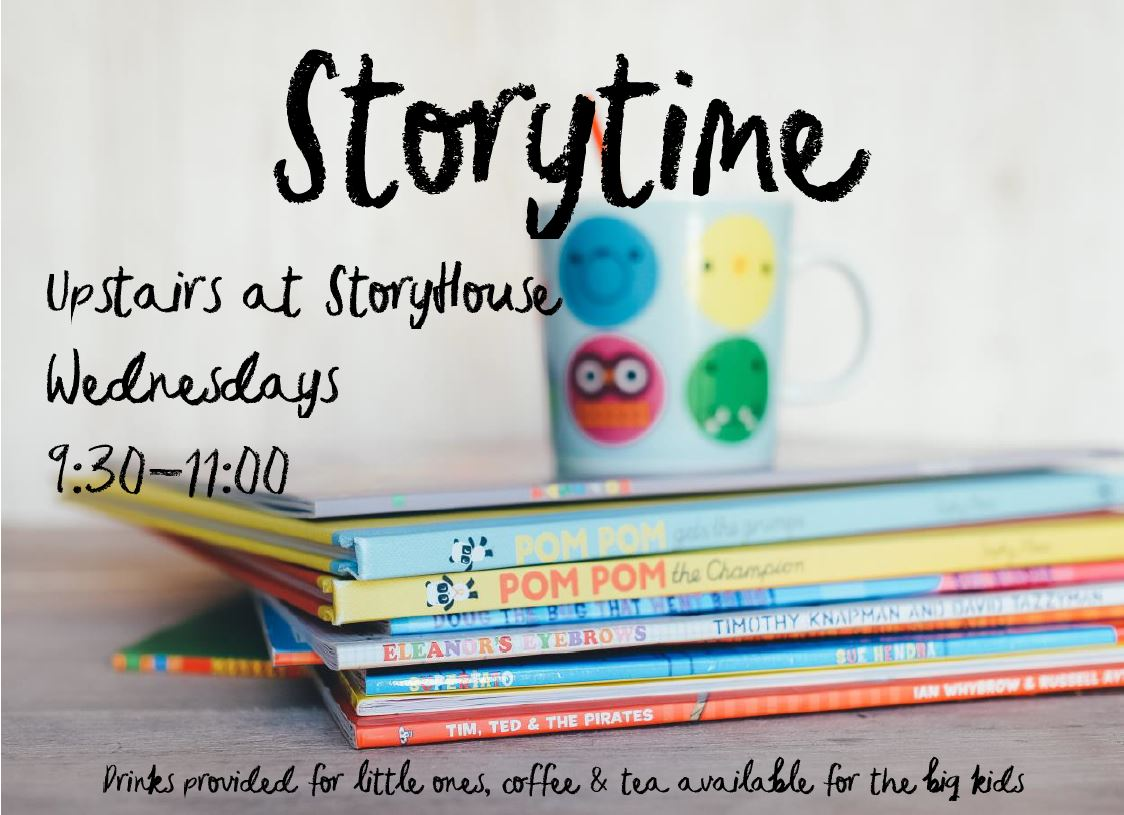 Storytime - Storytime is a creative morning of storytelling for preschoolers and their carers. With drinks and toast for little ones and the chance to grab a big cup of coffee for the adults, Storytime is a fun morning for everyone.Every Wednesday during term time 09:30 - 11:00