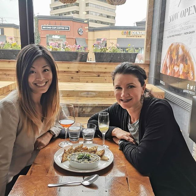 """Hello! We have a few more suggestions for those of you who are feeling a bit deprived on your allergy elimination protocols.Dr.Janet and I have been out and about working hard/eating good food on your behalf (you are welcome!😊) to supply you with some clean eating options while cleansing, figuring out food intolerances or just wanting a change from the usual.  Here they are:  Die Pie (@diepieyeg): This is a wonderful vegan (no meat, no dairy and no egg) establishment with some wonderful """"cheat-feeling"""" foods on their menu. They have plenty of options that are gluten free as well.We enjoyed everything we have eaten there on many occasions. This dip was gooey and decadent😊.Cocktails are great, and the rotating list of pizzas do not disappoint. Photos are from here!  Moth Café (@themothcafe): Also vegan, and also many items are gluten free. These folks have incredible talents as well. Making desserts and nachos and things that taste wonderful. It is a favourite spot of Dr. Janet's and Dr. Janice's to meetand get some work done while eating/drinking wonderful things. We call this our 2ndoffice!  An Chay restaurant (@anchayyeg): Great Vietnamese food, that is vegetarian, and super tasty. With fall coming, their soups will be a welcome addition to warm you to your core. Try their wonderful burdock tea, it is liver-loving and tasty too.  Let us know how these have worked out for you and what some of your favourites are!  #foodsensitivies #yegdining #glutenfree #vegan"""