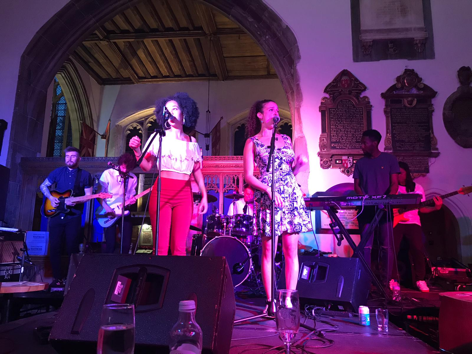 The band on stage at our debut show in Kingston-Upon-Thames