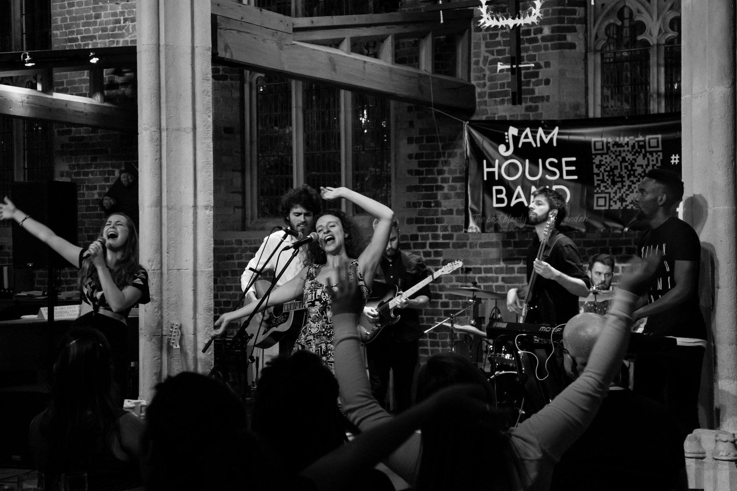 House Band and crowd having an equally amazing time