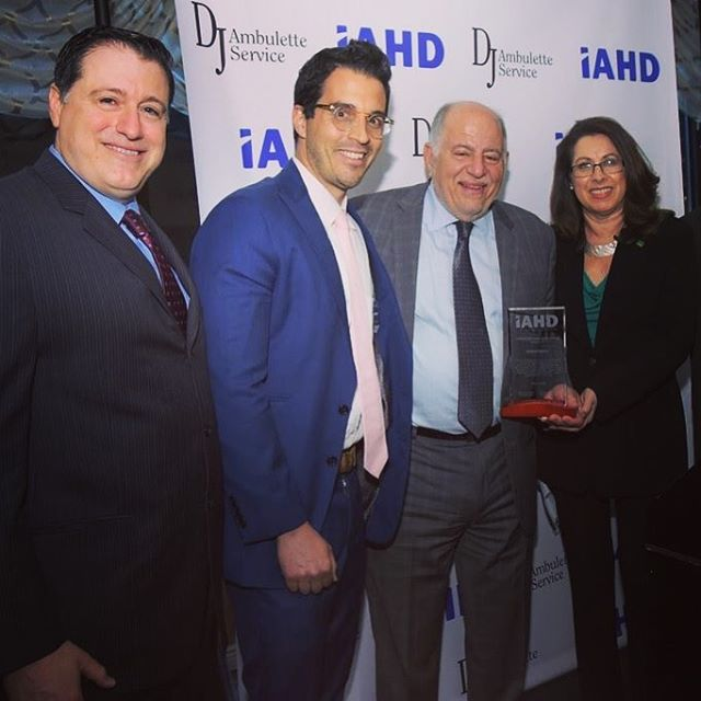 So very proud to receive the corporate excellence award from IAHD!