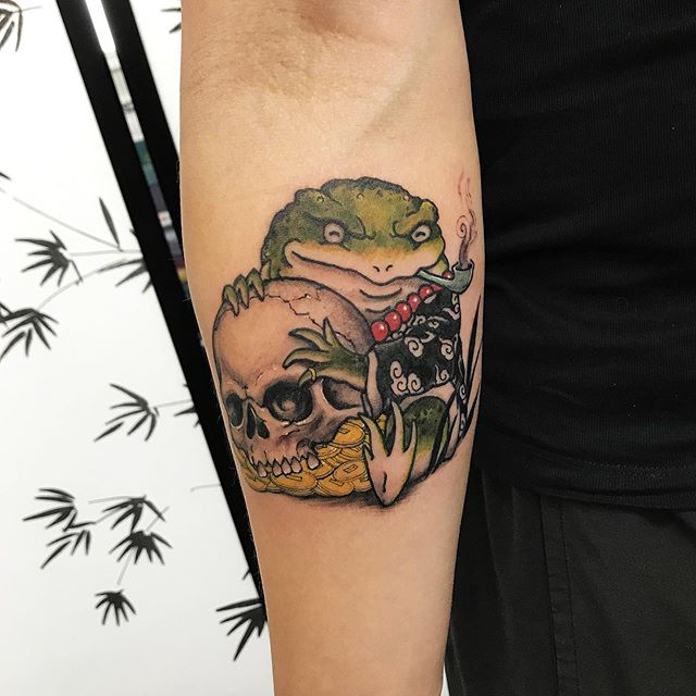 Lucky toad and skull. Thanks for grabbing this one and thanks for letting me tattoo you justin 🙏 . . . . #9elementtattoos #9element #tattoos #tattoo #calgarytattoos #yyctattoos #tattoocalgary #yyctattoo #japanesetattoo #japanesetattoos #asian_inkandart