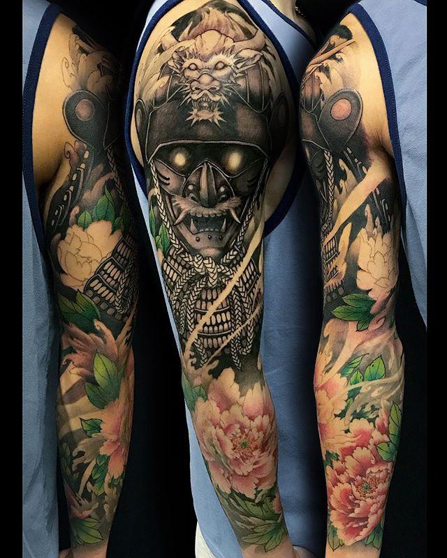 Round 2 a week later. Should finish this sleeve next time! Thanks Joshua . . . . . #tattoo #tattoos #yyctattoo #yyctattoos #calgarytattoos #calgaryartist #yeg #yegtattoo #yegtattoos #yycartist #tattoosofinstagram #tattooart #tattoocalgary #inked #tattoo_art_worldwide #japanesetattoo #japanesetattoos #asian_inkandart #asian_inkspiration #9elementtattoos #9element #samuraimask #samuraitattoo #samuraimasktattoo #peonytattoo