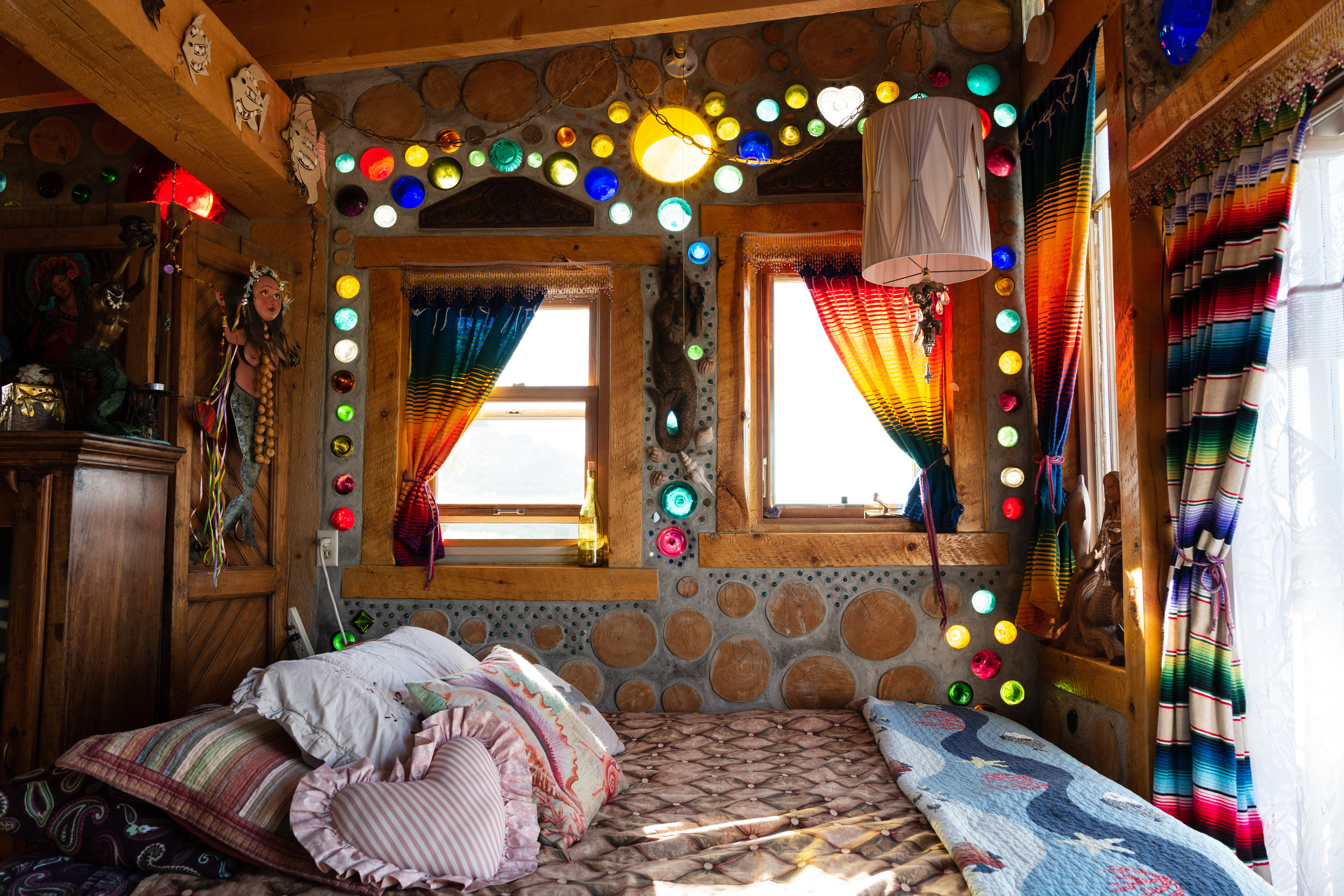THE MERMAID COTTAGE - On an off-grid ranch on the western edge of the San Luis Valley in Colorado, a cordwood casita known as the Mermaid Cottage inspires sustainable living. And it only cost $5,000 to build.