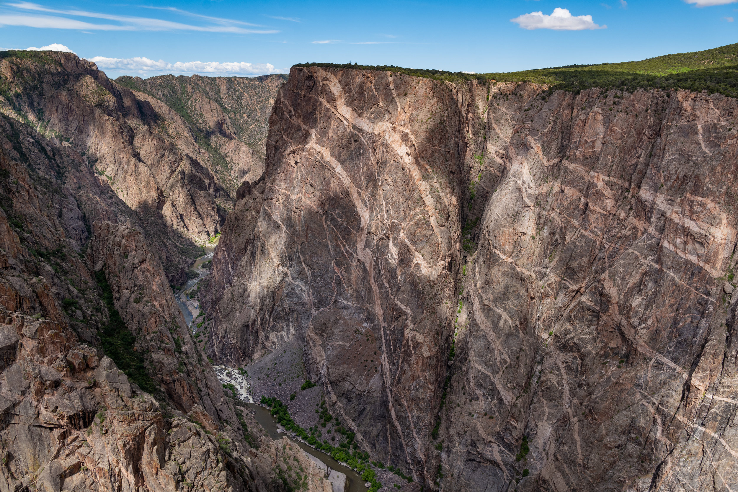 black canyon of the gunnison - Named for its deep, sunless chasms descending 2,722 feet from rim to river at its greatest depth, Black Canyon of the Gunnison is regarded as one of North America's most impressive canyons.