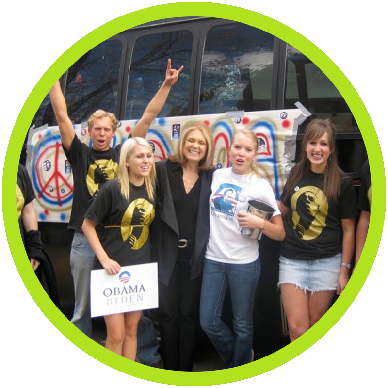 Crowd with Gloria Steinem