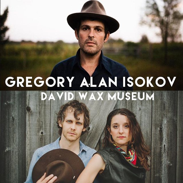 Thrilled to announce that we're opening as a duo for @gregoryalanisakov in Indianapolis on July 31 at @voguetheatre. This is going to be a special one!  Tickets now on sale.