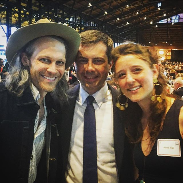 Such a pleasure to catch our old friend @pete.buttigieg on the campaign trail on the eve of his and Chasten's first wedding anniversary.  Happy anniversary, friends!  We were honored to play your wedding last year and have loved witnessing how you two have made such a splash on the national stage. @chasten.buttigieg