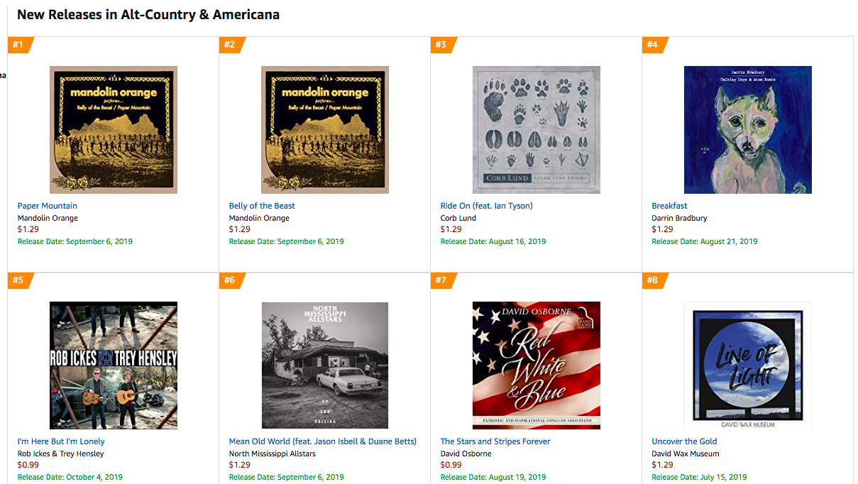 #8 Americana Singles New Release Amazon.png
