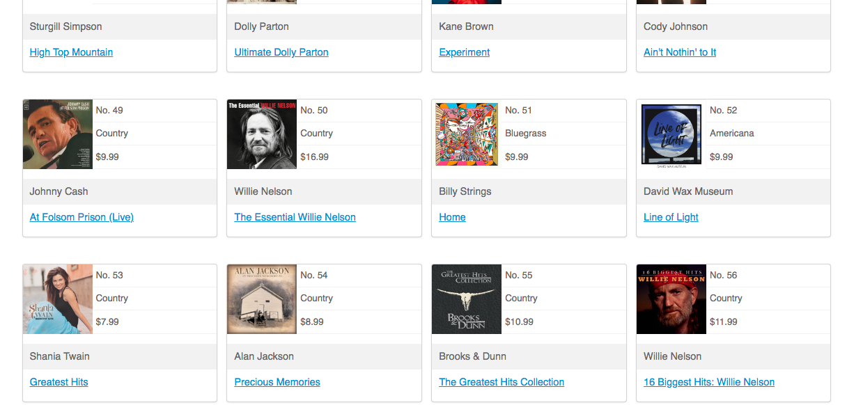 #52 on iTunes Country chart.png