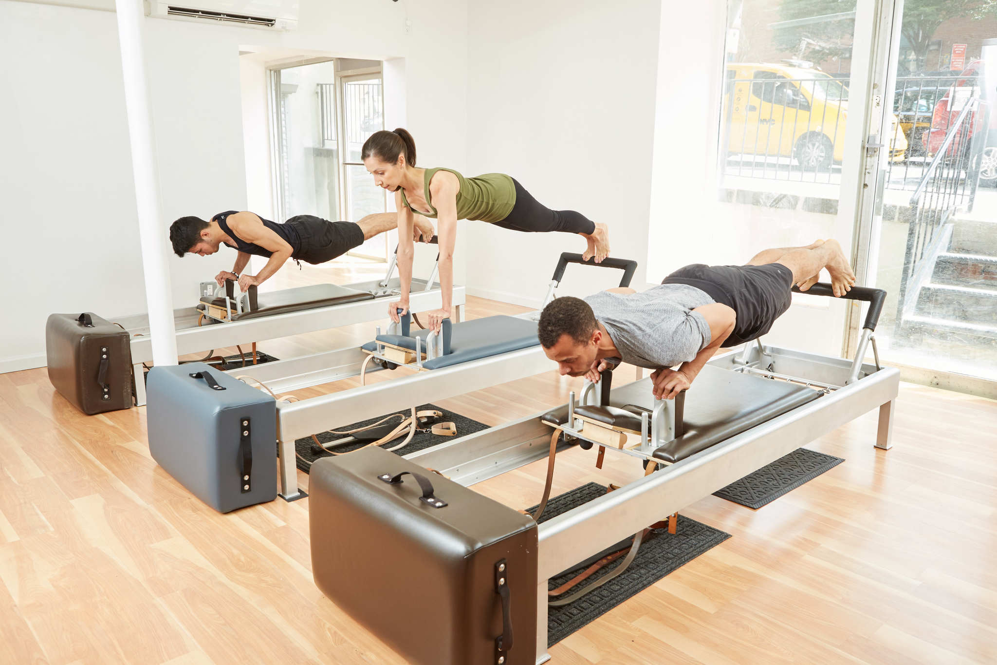 Pilates - Find out about our Private, Duet, and Reformer/ Trio Classes.
